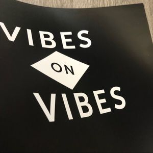 """SD collective Mercantile Wall Art - Brand new 11x14"""" black & white VIBES art poster"""